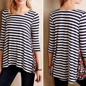 Anthropologie Puella Striped Tunic Top
